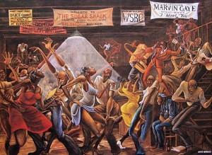 Sugar Shack, the early 1970s_by Ernie Barnes (1938-2009)